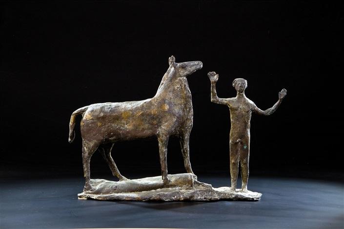 mann mit pferd by heinrich kirchner