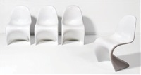 suite de quatre chaises modèle cantilever (set of 4) by verner panton