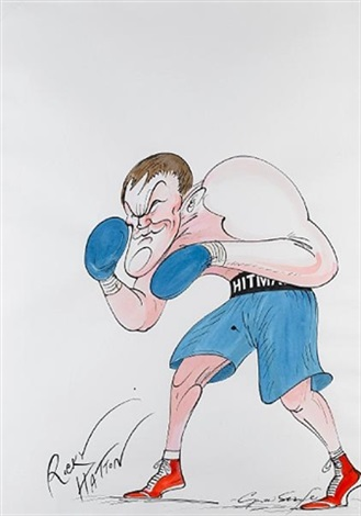 ricky hatton by gerald scarfe