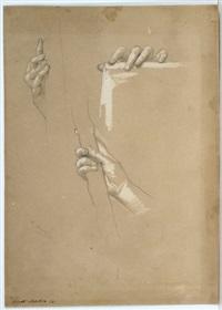 drei handstudien by nicolo barabino