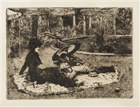 sur l'herbe by james jacques joseph tissot