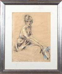 portrait de femme by louis icart