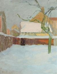coin de ferme enneigé, hiver by alexandre jacob