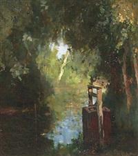 vischkaar: a pond in summer by jacob ritsema