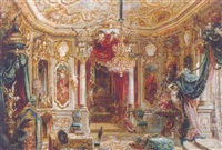 an ornate drawing room by robert raschka