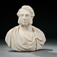 bust of a man, possibly daniel macnee by george edwin ewing