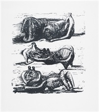 three reclining figures by henry moore