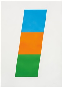 blue/red-orange/green by ellsworth kelly