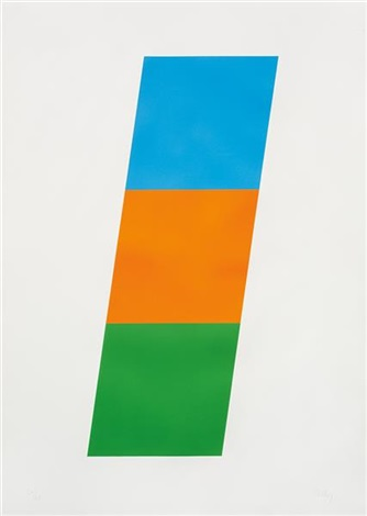 bluered orangegreen by ellsworth kelly