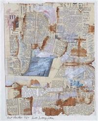 bunte zeitungsfetzen (colourful newspaper shreds) by kurt schwitters
