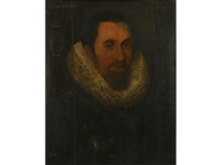 portrait of john clapham (+ portrait of his wife anne; 2 works) by british school (16)