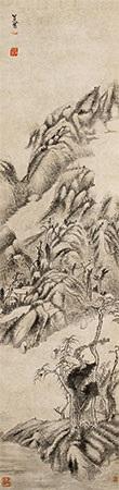 山水 by bada shanren