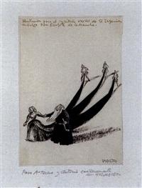 ilustración para el cap. xxxviii de d. quijote de la mancha by joaquín vaquero palacios