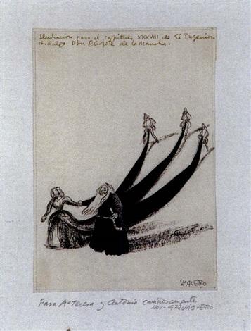 ilustración para el cap xxxviii de d quijote de la mancha by joaquín vaquero palacios