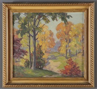 landscapes (+ 2 others; oil on board, smllr; 3 works) by william h. eppens