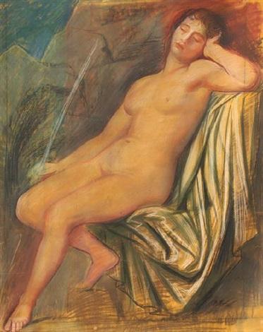 nudo dormiente by achille funi
