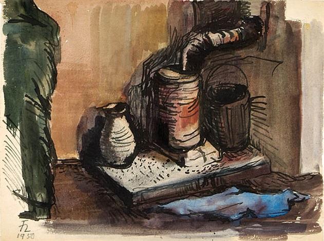ölofen im atelier moritzburg by joachim heuer