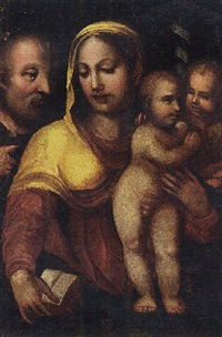 the holy family with saint john the baptist by domenico beccafumi