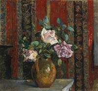 roses dans un pichet by edouard vuillard