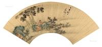 松竹高士 by wen zhengming