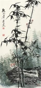 竹雀图 by tang yun