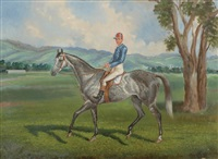 jockey mounted to dappled gray by edwin woodhouse