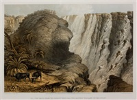 the victoria falls, zambezi river, sketched on the spot by john thomas baines