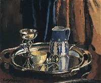 still life on a silver tray by janetta susan gillespie