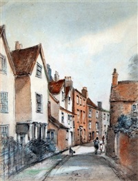 view of lower cathedral close, norwich by arthur edward davies