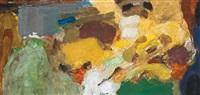 composition vert et brun by chafic abboud
