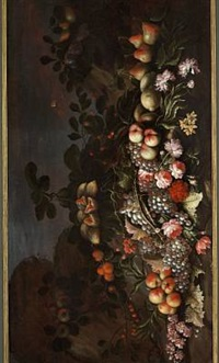 still life with flowers and fruit by agostino verrocchi