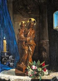 la vierge et l'enfant by xavier mellery