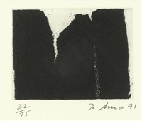2 sheets: 8 and 4 (2 works from videy afangar series) by richard serra
