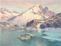 lac blanc, l'aiguille verte by charles henry contencin