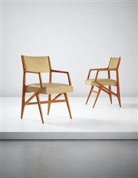 pair of rare armchairs, model no. 835 by gio ponti