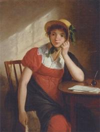 composing a reply by adriaen de lelie