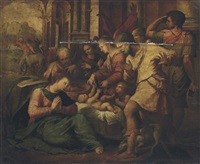 the adoration of the shepherds by perino del vaga