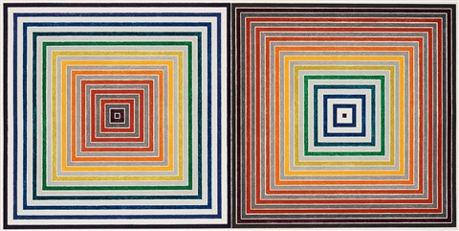 double gray scramble by frank stella