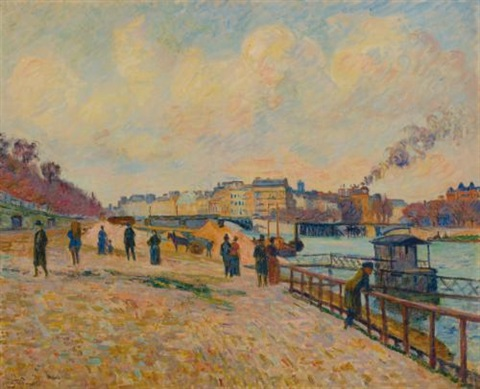 quai saint bernard paris by armand guillaumin