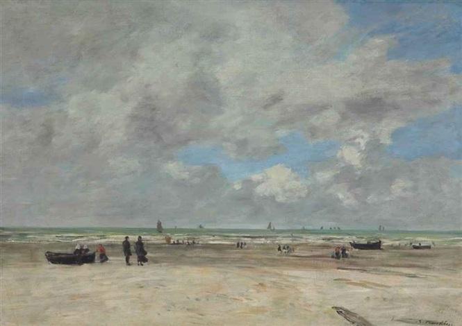berck la plage marée basse by eugène boudin