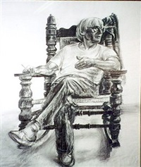 portrait of willem de kooning by byron goto