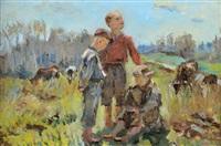 jeunes bergers by fedor v. antonov