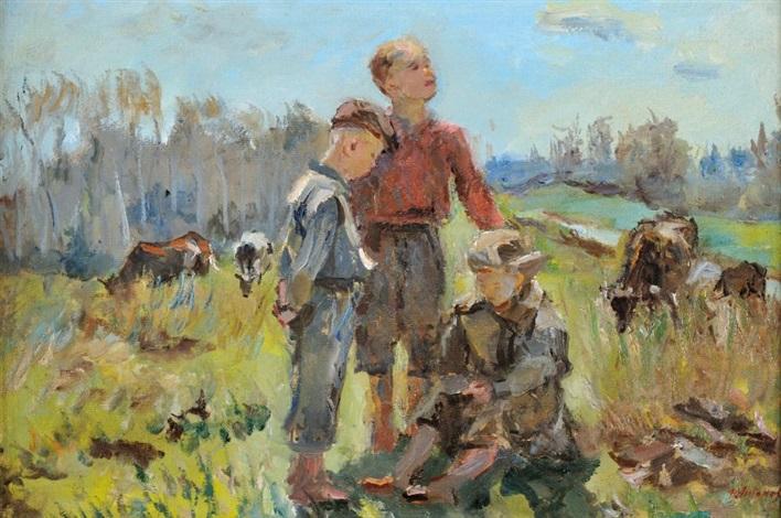 jeunes bergers by fedor v antonov