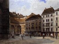 kohlmarkt gegen die hofburg by edmund frederic arthur krenn