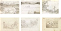two views of ullswater (+4 others; 6 works) by john glover