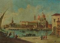 vue de l'église santa maria della salute et de la pointe de la douane by francesco guardi