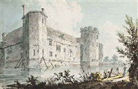 view of wingfield castle, wingfield, suffolk by edward dayes