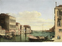 the grand canal, venice, with the palazzo corner della ca' grande by canaletto