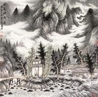 溪山烟雨图 by zeng xianguo