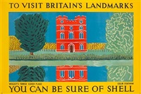 to visit britain's landmarks, wolsey's tower, esher place, you can be sure of shell (poster by colin statham) by posters: advertising - shell oil